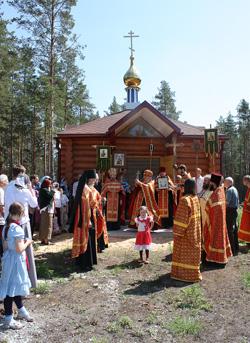 На кладбище поселка Пено освятили новую часовню