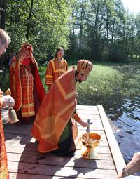 Малое водоосвящение истока реки Западная Двина