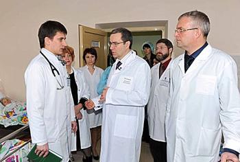 Д.Зеленин в новом сосудистом центре в Твери