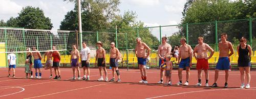 (слева на права) Команды «Пено», «Лесной волейбол», «Андреполь»