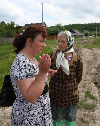 Глава поселения Н.Вельчева с М.К.Котовой