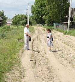 Улитца Советская в п.Жукопа